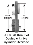 rime exit device with no cylinder override pg 8878